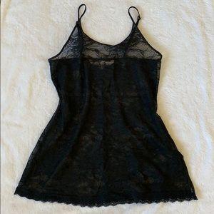 Victoria's Secret Black Lace Slip